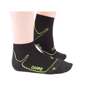 CAMPZ Merino Sneaker Socken black/green